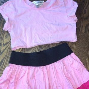 Girls two piece outfit size 6